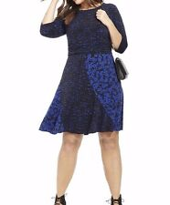 Taylor Dresses By Gwynnie Bee Black And Royal Floral A Line Dress Size 20W