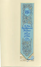 New Cash's Silk Woven Bookmark Prince William Royal Birth Lady D Prince Charles