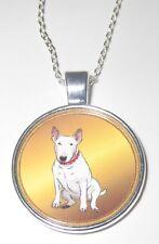 BULL TERRIER BULLTERRIER Hunde Halskette Necklace -EM2 - NEU!