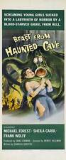 BEAST FROM HAUNTED CAVE Movie POSTER 14x36 Insert Michael Forest Sheila Noonan