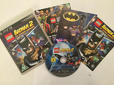 SONY PLAYSTATION 3 GAME LEGO BATMAN 2 DC SUPER HEROES +BOX INSTRUCTIONS COMPLETE