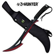 "Zombie Z Hunter Machete 24"" Apocalypse Sword BIOHAZARD Black Red 2-Tone 020BR"