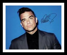 ROBBIE WILLIAMS AUTOGRAPHED SIGNED & FRAMED PP POSTER PHOTO