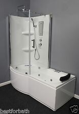 Shower Cabin with Whirlpool Tub. Left corner.NEW IN BOX  6 Year Warranty.