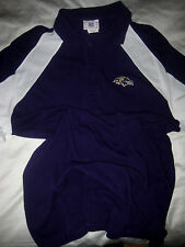 BALTIMORE RAVENS NFL EMBROIDERED LOGOS POLO JERSEY SHIRT- PIQUE COTTON- MT