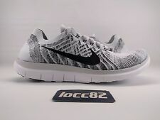 Nike Men's Free 4.0 Flyknit Running Shoe sz 9 (717075-005) Grey Black White