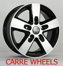 "15"" VOLKSWAGEN LT 35 ALLOY WHEELS BLACK POLISHED 5X130 5 STUD (1996 2006)"