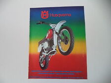 advertising Pubblicità 1976 MOTO HUSQVARNA CR 250 CROSS MOTOCROSS