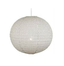 Large 51cm Fabric Polka Dot Round Hanging Pendant Light Shade, Lampshade Lamp