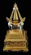24 Carat Gold Plated Stupa with Crystal Dome