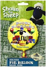 Shaun The Sheep 18inch Foil Helium 'HAPPY BIRTHDAY' Balloon Children's Party