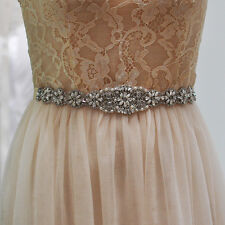 S161 Rhinestones Crystals Beads Bridal Sash Belt Wedding Dress Belt Accessories