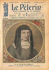 Portrait Bienheureuse Louise de Marillac/Saint Vincent de Paul 1920 ILLUSTRATION