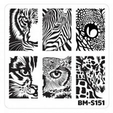 Bundle Monster Stamping Schablone Plate BM-S151 Nailart Tier Auge Animal Eyes