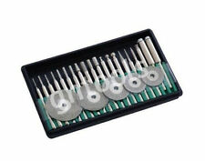 25PC Micro Diamond Burr & Mini Cutting Disc Set Fit Rotary Drill Or Engravers