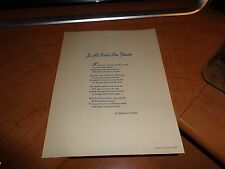 "1953  Edgar A Guest Poem Print ""To All School Bus Drivers"" Chrysler Corporation"