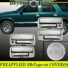 2001-2004 CHEVY S10 GMC SONOMA Chrome Door Handle 4Door+Gas fuel COVERS Overlay