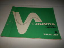 OEM Factory Honda CB550F Parts List Manual 89 Pages