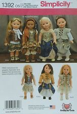 "Simplicity 1392 Sewing PATTERN fits 18"" American Girl DOLL CLOTHES Steampunk"