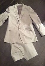 Mens Grey Aquascutum Single Breasted Suit 42R