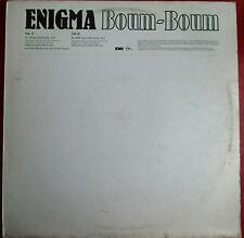 """ENIGMA - MAXI VINYL (12"""") PROMO """"BOUM-BOUM"""""""