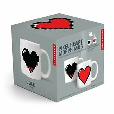 Kikkerland Heat Activated Mug with Pixellated Heart Design