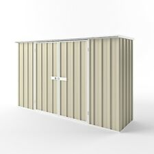 EasySHED Double Door 3m x 0.75m Flat Roof Garden Shed Storage Sheds Colour