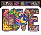 "(#35) CELESTIAL LOVE sun moon die-cut 5"" x 3.25"" sticker decal DAN MORRIS (AF665"