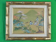 Vintage Framed Chinese China or Japanese Japan Oil Painting