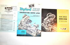 MYFORD HIGH SPEED SUPER 7 CENTER LATHE & ML10 SCREWCUTTING LATHE BROCHURES RR859