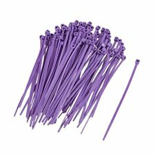 Cable Ties 2.5mm x 100mm Nylon Tie-Wrap Violet Purple !! Pack of 100 units !!