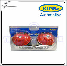Ring 12v Twin Red Chrome Hi-Lo Note Ecetro Horn REH200