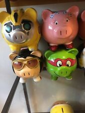 Piggy Bank- Batman, Superman, Mr Potato Head,Dorothy,transformers,Elvis, Turtle