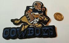 "Dallas Cowboys vintage embroidered iron on Helmet  Patch   3""x 3""  Vintage NFL"