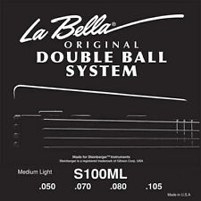 "LA BELLA S100ML DOUBLE BALL END ""STEINBERGER"" BASS STRINGS, 4 string set, 50-105"