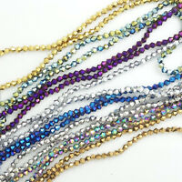 Bicone Faceted 5301# Crystal Glass Loose Spacer Beads DIY 3mm/4mm/6mm