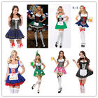 Ladies Beer Maid Wench German Oktoberfest Gretchen Costume Fancy Dress Outfit