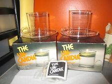 2 Vintage Pyrex  THE UN-CANDLES Jack Be Nimble Floating CANDLE Sets with Boxes