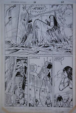 HERB TRIMPE / VINCE COLLETTA original art, INDIANA JONES #16 pg 22, 11x16, UBoat