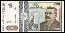 ROMANIA 200 LEI 1992 P#100 BANKNOTE UNC