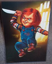 Childs Play Chucky Glossy Print 11 x 17 In Hard Plastic Sleeve