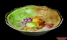 Vintage Antique Carl Tielsch Fruit Autumn Gold Porcelain Cereal/Soup Bowl L8Y