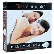 FINE ELEMENTS® Double Size 120x107cm Electric Heated Blanket w/ 3 Heat Settings