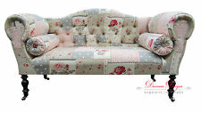 Gorgeous Quirky Patchwork Print Double Ended Chaise Sofa  **UK Made**