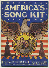 Vintage 1941 AMERICA'S SONG KIT Booklet  of Patriotic & American Standards