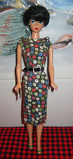 VINTAGE Barbie1959 APPLE PRINT SHEATH OUTFIT~#917+ 1958 Reproduction BARBIE DOLL