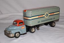 1950's Made in Japan Daiya Tin Friction Semi Truck, Union Sheep Co, Original