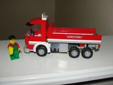 """LEGO #4645 """"CITY HARBOR"""" RED TRANSPORT TRUCK AND MINIFIGURE WORKER ONLY"""