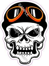 Skull Tattoo Motorcycle Helmet Goggles Vinyl Sticker Decal.