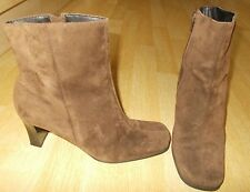 Ladies HUSH PUPPIES Diamond - Brown Suede Ankle High Boots - Size EU 39